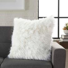 """Fur Vv059 White 1'5"""" X 1'5"""" Throw Pillow"""