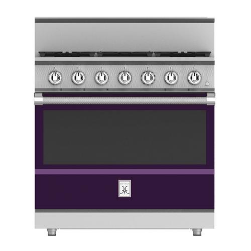 """Hestan - 36"""" 5-Burner All Gas Range - KRG Series - Lush"""
