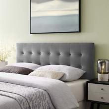 Emily King Biscuit Tufted Performance Velvet Headboard in Gray