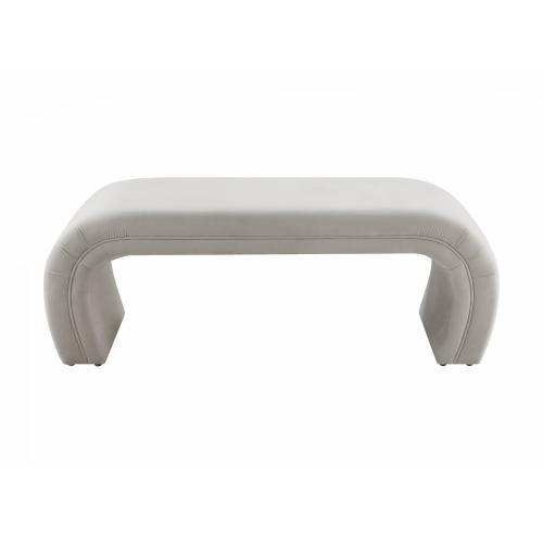 Product Image - Kenya Light Grey Velvet Bench
