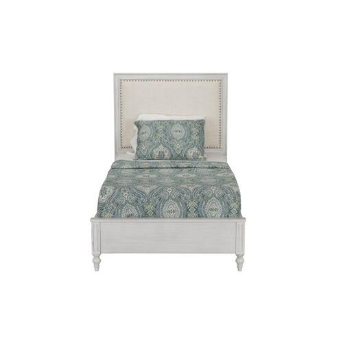Sarah Twin Upholstered Panel Bed