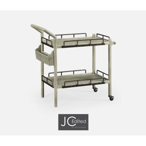 Rustic Grey Bar Cart