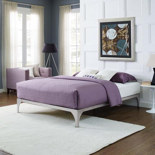 Modway - Ollie King Bed Frame in Silver
