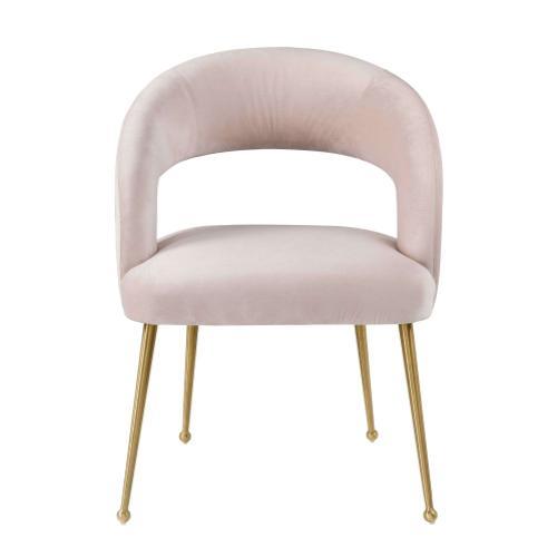 Rocco Blush Velvet Dining Chair