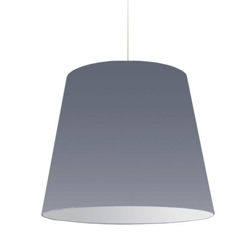 1lt Oversized Drum Pendant Large Grey Shade