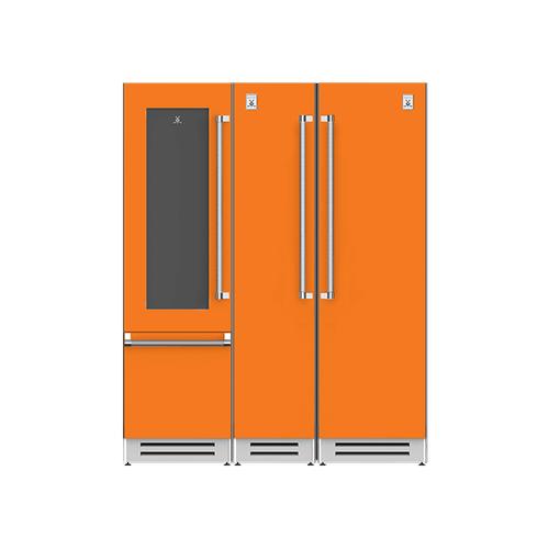 "Hestan - 66"" Wine Refrigerator (L), Column Freezer and Refrigerator ® Ensemble Refrigeration Suite - Citra"