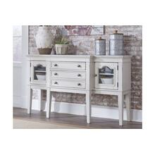 Danbeck Dining Room Server Chipped White