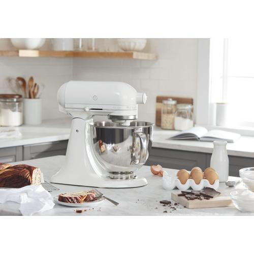 Artisan® Series 5 Quart Tilt-Head Stand Mixer - White-on-White