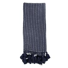 Hand Woven Kadin Throw Navy