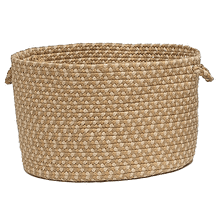 "Brook Farm Basket BF82 Tea Stained 14"" X 10"""