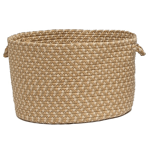 "Brook Farm Basket BF82 Tea Stained 18"" X 12"""