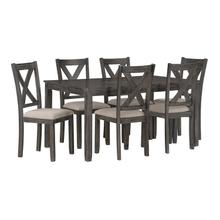 Davis Dining Table with Six Chairs Set