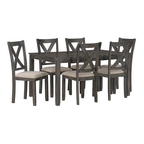 Standard Furniture - Davis Dining Table with Six Chairs Set