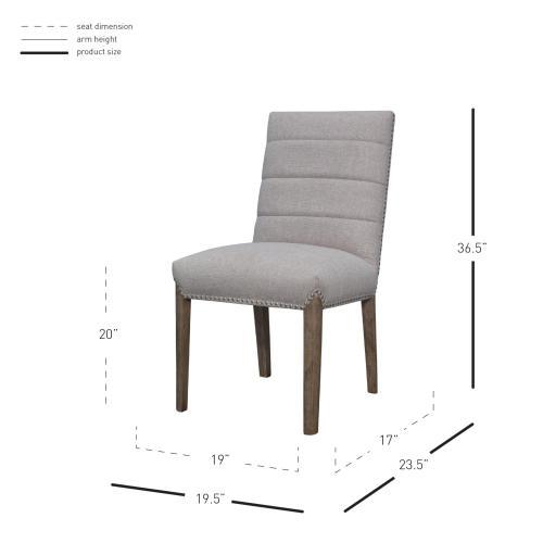 Alfred Fabric Dining Side Chair Natural Drift Legs, Havana Linen