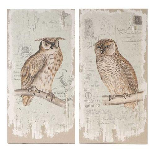 S/2 Owl Wall Art