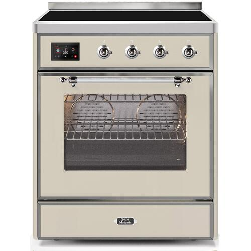30 Inch Antique White Electric Freestanding Range