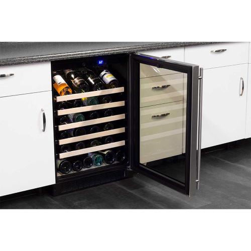 Marvel - 24-In Built-In Single Zone Wine Refrigerator with Door Swing - Right