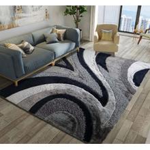 Designer Shag S.V.D. 26 Area Rug by Rug Factory Plus - 5' x 7' / Black