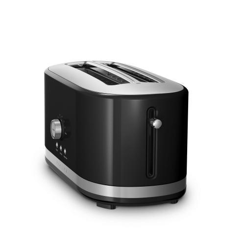 KitchenAid - 4-Slice Long Slot Toaster with High Lift Lever - Onyx Black