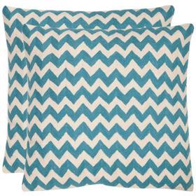 Striped Tealea Pillow - Blue Rain