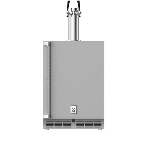 """Hestan - 24"""" Hestan Outdoor Double Faucet Beer Dispenser - GFDS Series - Matador"""