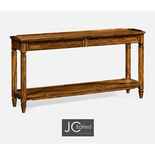 See Details - Console Table with Drawers in Country Walnut