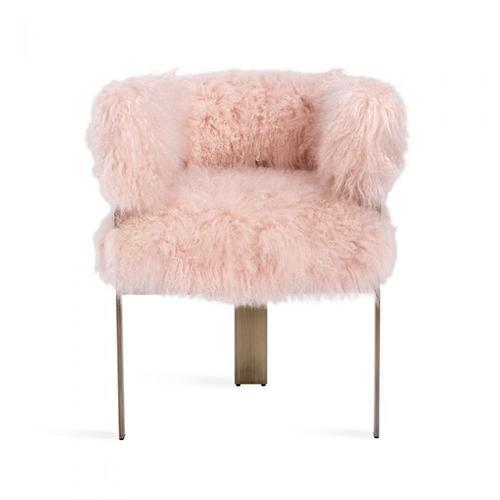 Darcy Chair - Blush Sheepskin