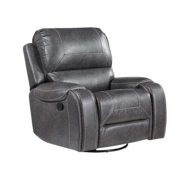 Keily Manual Swivel Glider Recliner, Grey