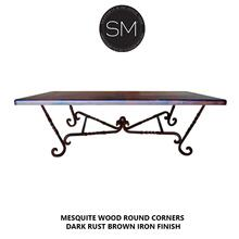 Mesquite Wood Rectangular Dining Table
