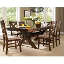 See Details - 7-Piece Karven Solid Wood Dining Set with Table and 6 Chairs