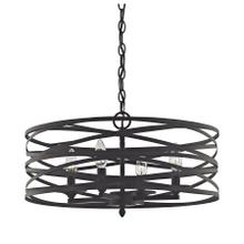 See Details - Vorticy 4-Light Chandelier in Oil Rubbed Bronze with Metal Cage