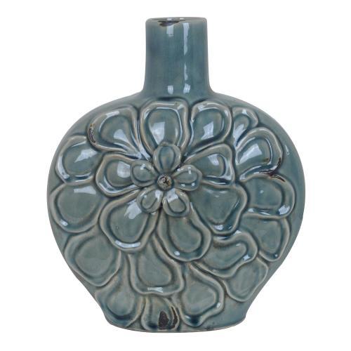 Large Soft Blue Flower Vase