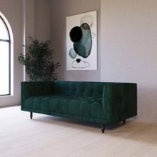 Divani Casa Morrow - Modern Green Fabric Green Sofa