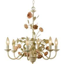 AF Lighting Ramblin' Rose Six Light Chandelier, 7050-6H