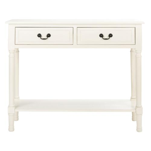 Safavieh - Primrose 2 Drawer Console Table - Distressed White