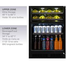 "Marvel 24"" Dual Zone Wine and Beverage Center - Panel-Ready Solid Overlay Door - Integrated Left Hinge"