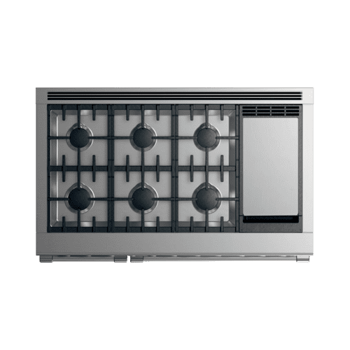 "Dual Fuel Range, 48"", 6 Burners with Griddle"
