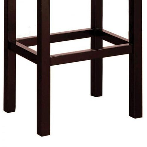 "Tudor Backless 26"" Stationary Barstool In Brown bonded leather With Nailhead Accents Mbs-013"