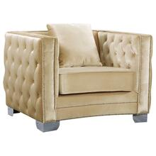 "Reese Velvet Chair - 42"" W x 34.5"" D x 30"" H"