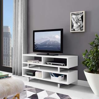 """See Details - Amble 47"""" TV Stand in White"""