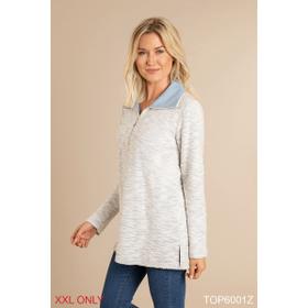Textured Zip Up Pullover - XXL (2 pc. ppk.)