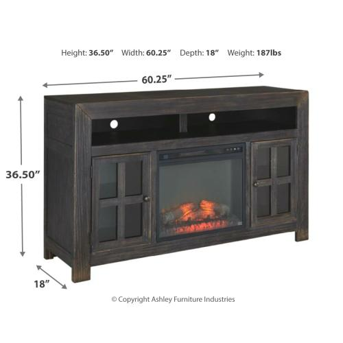 """Signature Design By Ashley - Gavelston 60"""" TV Stand With Electric Fireplace"""