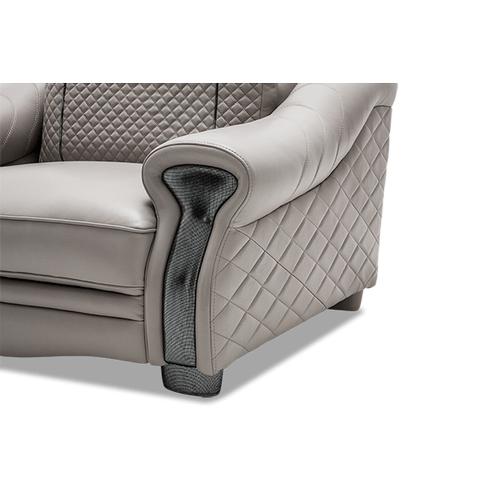 Gabriella Leather Chair& Half in LightGrey