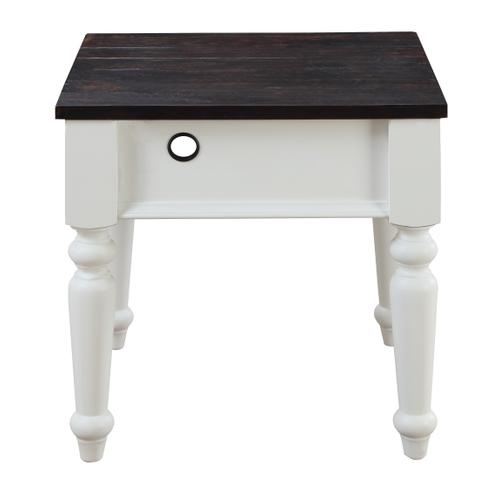 Mountain Retreat End Table W/ Charging Station