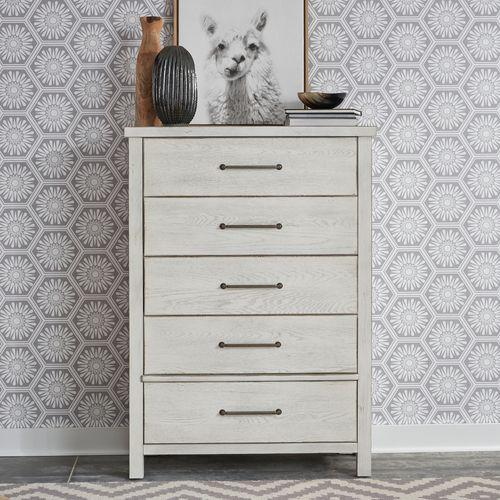 Liberty Furniture Industries - King California Platform Bed, Dresser & Mirror, Chest, Night Stand
