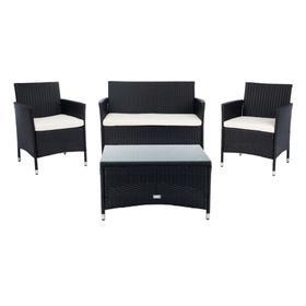 Bandele 4pc Living Set - Black / Beige