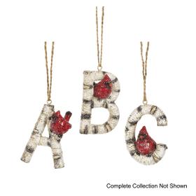 Christmas Cardinal Monogram Ornaments (36 pc. ppk.)