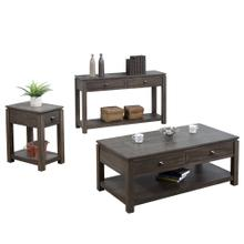 See Details - Living Room Table Set w/Drawers and Shelves - Shades of Gray (3 Piece)