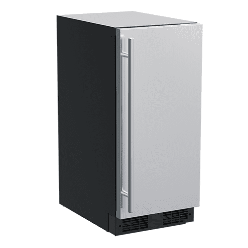 Marvel - 15-In Built-In Refrigerator with Door Style - Stainless Steel