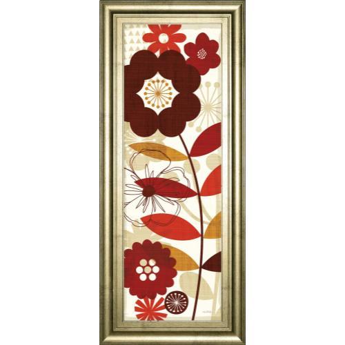 "Classy Art - ""Floral Pop Panel I"" By Mo Mullan Framed Print Wall Art"